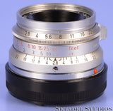 LEICA LEITZ 35MM SUMMARON-M F2.8 CHROME SIMOM 11306 LENS +CAPS CLEAN NICE