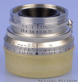 LEICA LEITZ 35MM SUMMARON F3.5 SOONC-M 11105 PROTOYPE LENS NO SERIAL # +CAPS