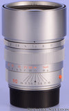 Leica Leitz 11137 90mm Summicron-M F2 Chrome Silver M Lens with Box +Filter Mint