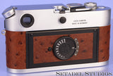 LEICA LEITZ M7 10504 A LA CARTE CHROME CAMERA BROWN OSTRICH LEATHER +METAL CAP