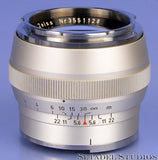 CONTAREX CARL ZEISS SONNAR 85MM F2 CHROME LENS +CASE CLEAN NICE