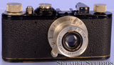 LEICA I (MODEL A) BLACK PAINT CAMERA SN. 429 +50MM ELMAX F3.5 +CASE +FODIS +MORE