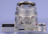 LEICA  50MM SUMMICRON F2 DUAL RANGE M LENS W/ EYE +CASE RARE LATE #2357197 M2-R