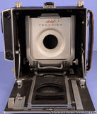 LINHOF TECHNIKA III BLACK 4X5 FIELD CAMERA BODY +LEATHER GRIP +BOARD. NICE!