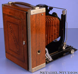 ZEISS CONTESSA NETTEL TROPEN ADORO WOODEN FOLDING CAMERA +135MM TESSAR F4.5 NICE