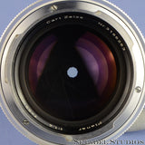 CONTAREX ZEISS PLANAR 55MM F1.4 SILVER CHROME CAMERA LENS CLEAN NICE