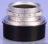 LEICA LEITZ 28MM SUMMARON-M F5.6 CHROME 11695 6BIT M LENS W/ BOX +SHADE NEW!