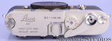 LEICA LEITZ M3 SS CHROME LATE # NO GUARD RANGEFINDER CAMERA BODY #1156180 NICE!