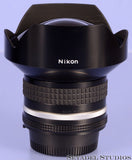NIKON NIKKOR 15MM F3.5 AIS RECTILINEAR WIDE LENS +CAPS +L1Bc FILTER. NEAR MINT!