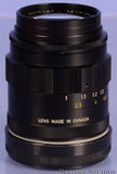 LEICA LEITZ 90MM TELE-ELMARIT F2.8 VERSION 1 FAT BLACK M 11807 LENS +CAPS CLEAN