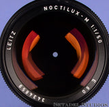 LEICA LEITZ 50MM NOCTILUX-M F1 11821 BLACK E60 M LENS +BOX +12544 SHADE +CAPS