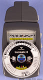 GOSSEN LUNASIX 3 EXPOSURE LIGHT METER W/ TELEPHOTO ATTACHMENT + CASES CLEAN NICE