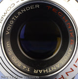 LINHOF SELECT VOIGTLANDER 105MM APO-LANTHAR F4.5 CAMERA LENS +BOARD +MASK RARE!