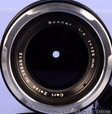 CONTAREX ZEISS SONNAR 135MM F4 BLACK LENS + MATCHING # CONTAINER CLEAN NICE!