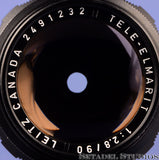 LEICA LEITZ 90MM TELE-ELMARIT F2.8 1ST V FAT BLACK M 11807 LENS +CAPS +CASE NICE