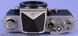 NIKON F CHROME SLR CAMERA BODY +PENTAPRISM RARE ATOMIC ENERGY AECL TORONTO