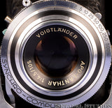 VOIGTLANDER BESSA II APO-LANTHAR 105MM F4.5 CAMERA +LEATHER CASE CLEAN NICE