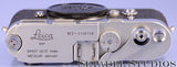 LEICA LEITZ M3 # 1110110 SINGLE STROKE SS CHROME CAMERA BODY +BOX #118 WOW!