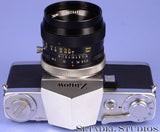 ZUNOW 1958 REFLEX SLR CAMERA +50MM ZUNOW F1.8 LENS +CAP +FILTERS +PATENT PAPERS