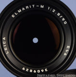 LEICA LEITZ 90MM ELMARIT-M F2.8 BLACK 11807 M LENS +CAPS +CASE +UVA FILTER CLEAN