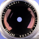 LEICA LEITZ 90MM TELE-ELMARIT-M F2.8 1ST V FAT CHROME 11800 M LENS +CAPS RARE!