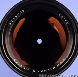 LEICA LEITZ 75MM SUMMILUX-M 2ND VERSION 11815 F1.4 M CANADA ELC BLACK LENS +CPS