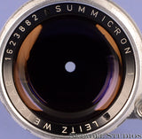 LEICA LEITZ 50MM SUMMICRON F2 RIGID SCREW MOUNT SM LENS W/ CAPS CLEAN! RARE!