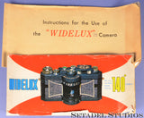 WIDELUX F6B SUPER WIDE ANGLE PANORAMIC CAMERA +BOX +CASE +PAPERS NICE!