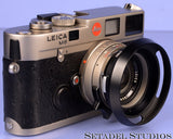 LEICA 11860 35MM SUMMILUX-M F1.4 TITANIUM GERMANY LENS +12504 SHADE +FILTER RARE