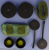 LEICA LEITZ ELCAN 7X50 MILITARY NATO BINOCULARS +FILTERS +CAPS RARE CRACKLE MINT