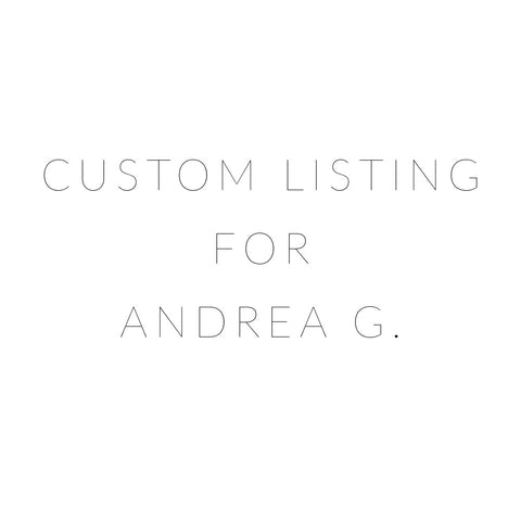 Listing for Andrea G.