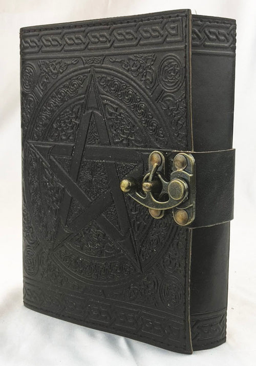 Leather Journal Pentagram w/latch (Black) 5x7