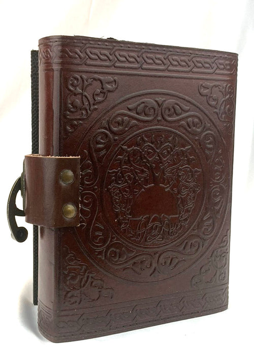 Leather Journal Pentagram w/latch (Brown) 5x7