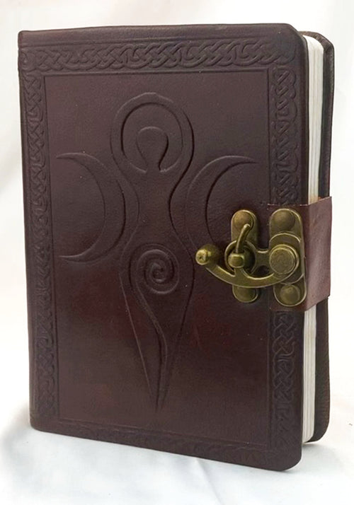 Leather Journal Goddess w/latch (Brown) 5x7