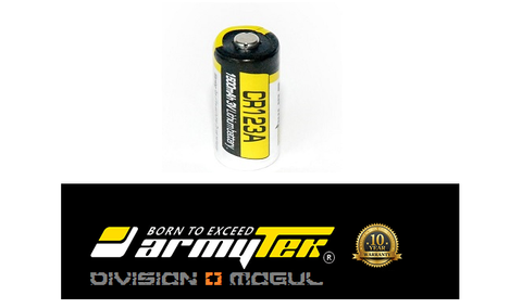 CR123A LITHIUM BATTERY NON RECHARGEABLE - Division Mogul