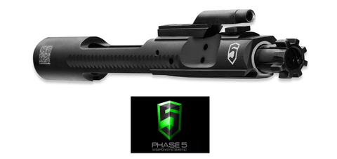 PHASE 5 M16 / M4 CHROME LINED BLACK PHOSPHATE COMPLETE BOLT CARRIER GROUP-DIVISION MOGUL