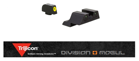 TRIJICON HD XR NIGHT SIGHT SET FOR GLOCK 17 PISTOL - Division Mogul