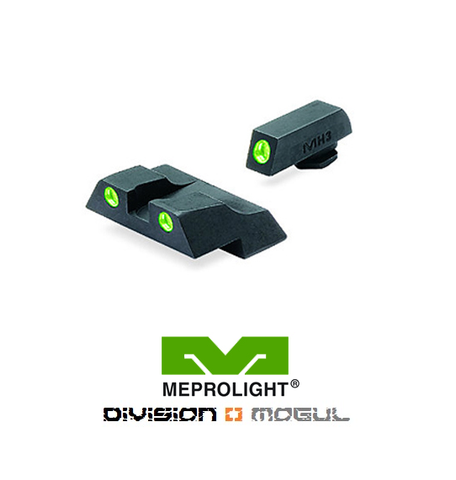 GLOCK 26 & 27 FIXED SET - TRU DOT NIGHT SIGHTS - Division Mogul