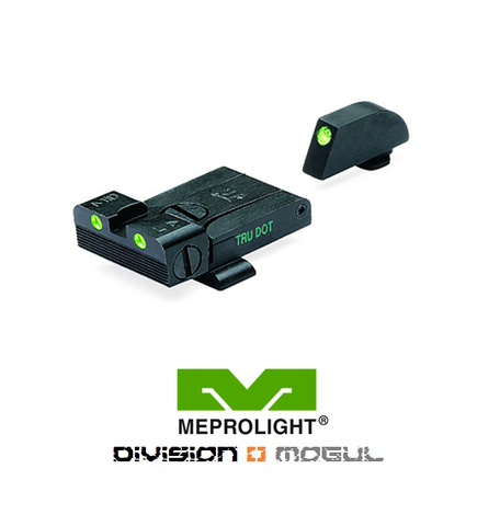 GLOCK ADJUSTABLE SET - TRU DOT NIGHT SIGHTS - Division Mogul