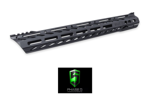 "PHASE 5 15"" LO-PRO SLOPE NOSE FREE FLOAT QUAD RAIL M-LOK-Division Mogul"