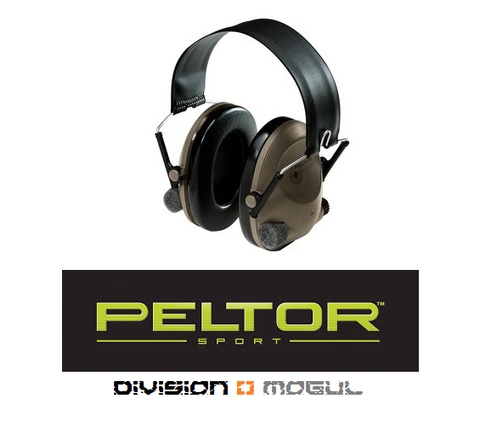 PELTOR SoundTrap Slimline Earmuff, Tactical Electronic Headset - Division Mogul