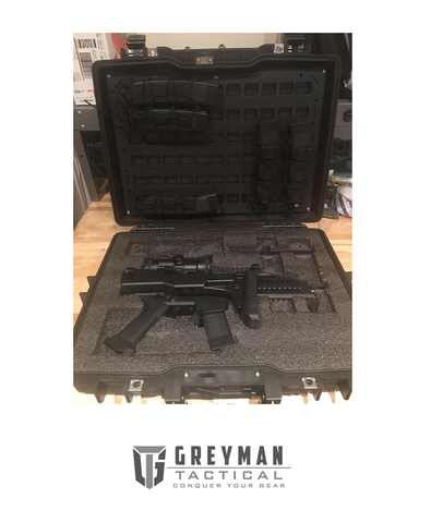 RIGID MOLLE PANEL - 13.125IN X 18.50IN HORIZONTAL PELICAN CASE 1495 COMPATIBLE - Division Mogul