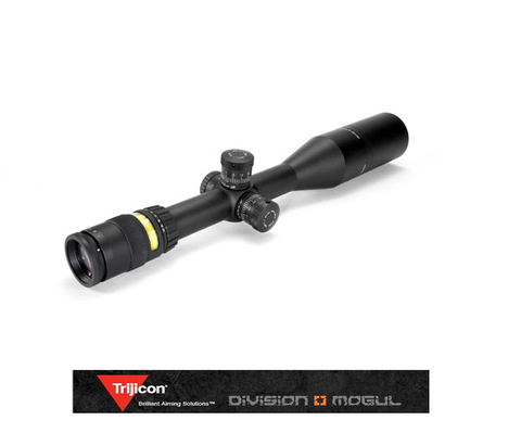 ACCUPOINT 5-20X50 RIFLESCOPE W/BAC AMBER TRIANGLE POST RETICLE, 30MM TUBE - Division Mogul