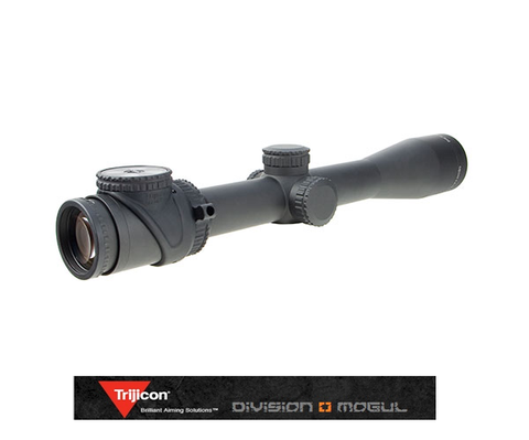 ACCUPOINT 2.5-12.5X42 RIFLESCOPE W/BAC RED TRIANGLE POST RETICLE, 30MM TUBE - Division Mogul