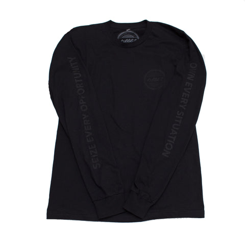 Globe Long Sleeve Tee Black/Black
