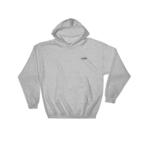 Embroidered Hoodie Grey