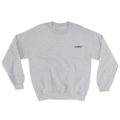 Embroidered Crew Grey