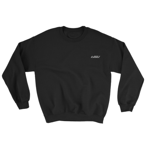Embroidered Crew Black