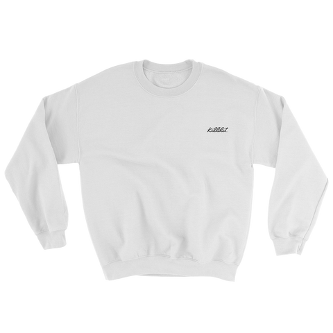 Embroidered Crew White