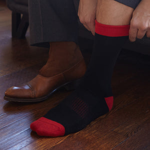 Men's Socks | Black Solid Serious Socks | Pengallan